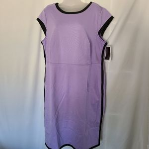Hal Rubenstein Lilac And Black Color Block Dress